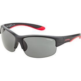 Alpina Flexxy HR Bril Jongeren, black matt-red/black